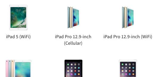 several iPad icons