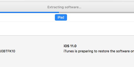 restoration message in iTunes