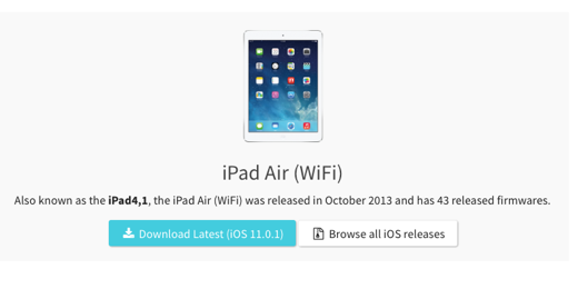iPad Air WiFi iOS release buttons