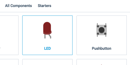 LED component in component panel