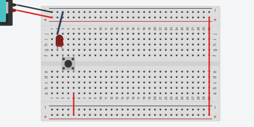 the completed circuit with the push button