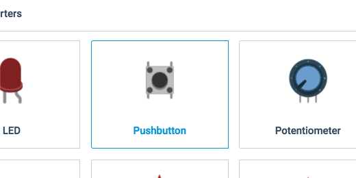 push button in components panel