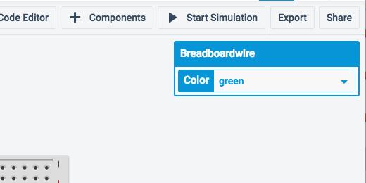 breadboard wire color selector option