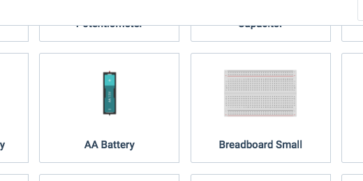 Breadboard component in components panel