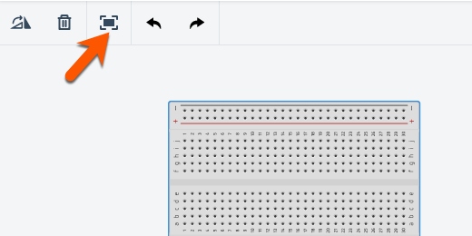 center components button in button bar for Tinkercad