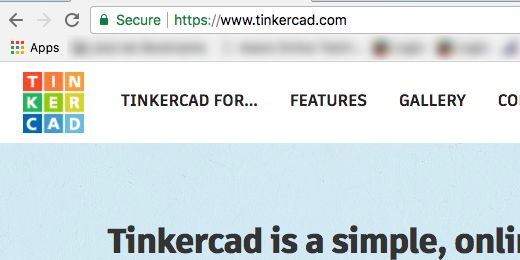 tinkercad web address in address bar